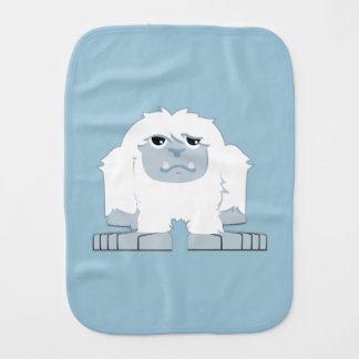 Cute Little Yeti Burp Cloth