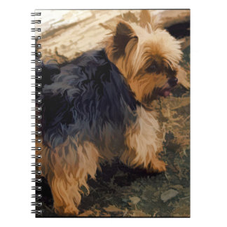 Cute Little Yorkie   - Yorkshire Terrier Dog Notebook