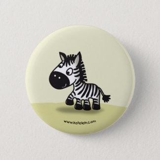 Cute little zebra 6 cm round badge