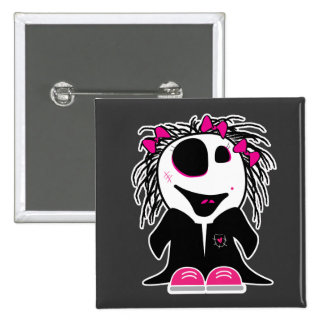 cute little zombie girly 15 cm square badge