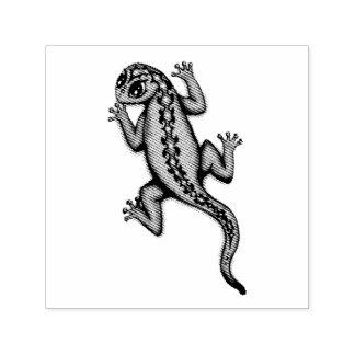 cute lizard stamp