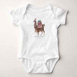 Cute Llama Animal   Baby Boy   Bodysuit