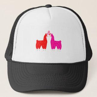 Cute Llama Couple Trucker Hat