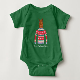 Cute Llama wearing Funny Ugly Christmas Sweater