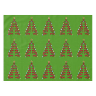 Cute Lobster Nautical  Christmas tablecloth green