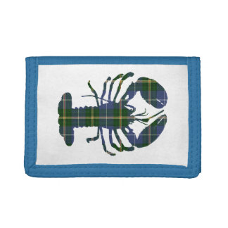 Cute Lobster Nova Scotia  tartan wallet