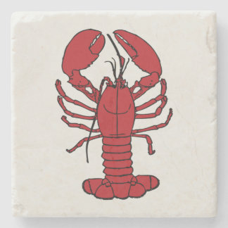 Cute lobster red white  coaster