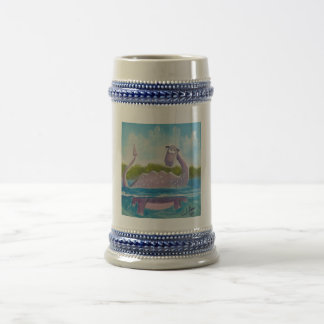 Cute loch ness monster picture beer stein
