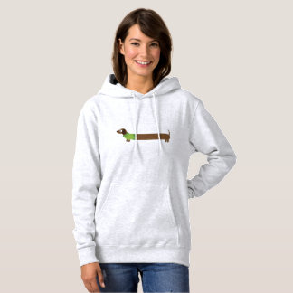 Cute Long Dachshund Illustration Hoodie