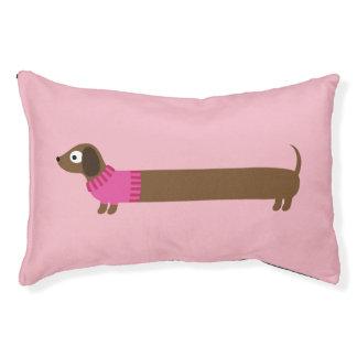 Cute Long Dachshund Illustration Pet Bed