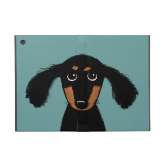 Cute Long Haired Dachshund Puppy Covers For iPad Mini