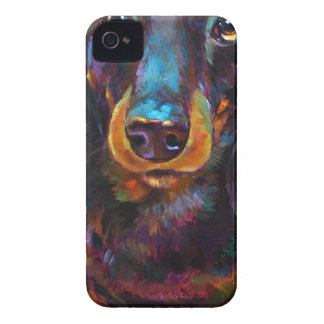 Cute Longhaired Dachshund Case-Mate iPhone 4 Case