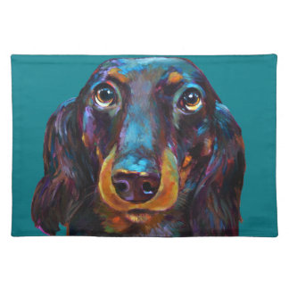 Cute Longhaired Dachshund Placemat