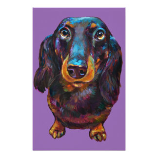Cute Longhaired Dachshund Stationery