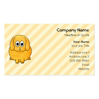 Cute Lop Bunny, with stripe background. Business Card Template