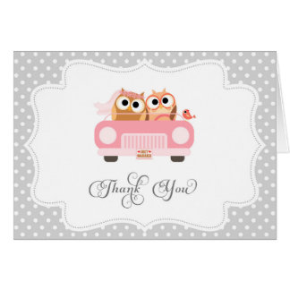 Cute Love Bird Thank You Card