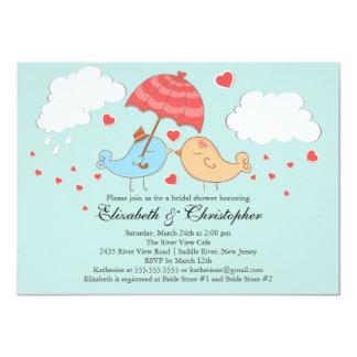 Cute Love Birds Bridal Shower 11 Cm X 16 Cm Invitation Card