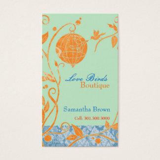 Cute Love Birds Fashion Boutique Business Cards