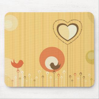 Cute Love Birds Mouse Pad