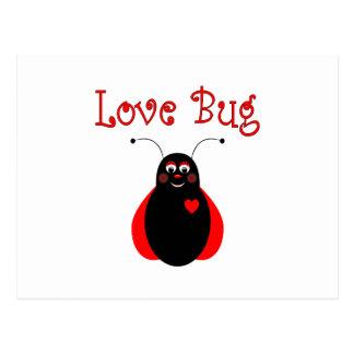 Cute Love Bug Ladybug Postcard