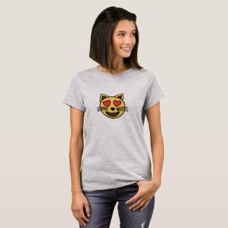 Cute love cat emoji T-Shirt