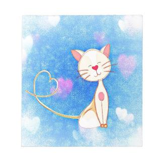 Cute Love Cat Notepad