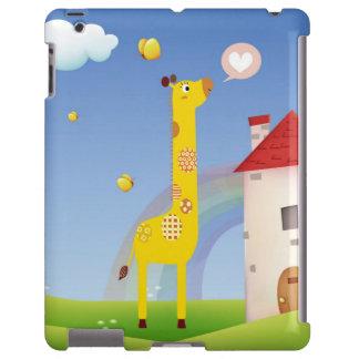 Cute Love Giraffe Butterfly Rainbow Castle & Cloud