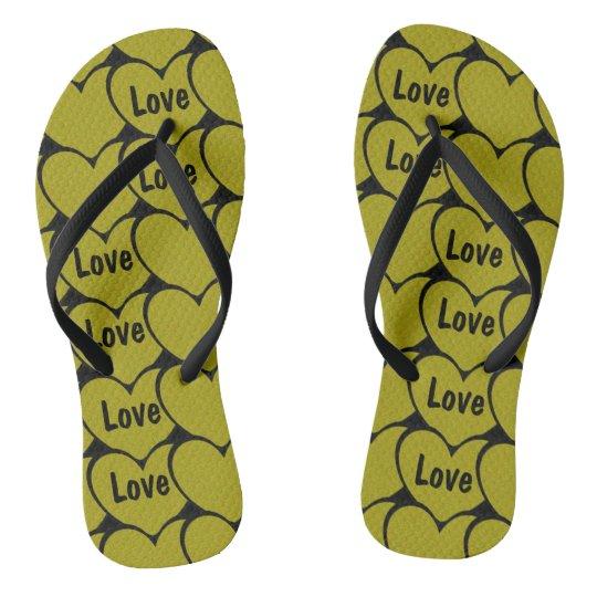 Cute Love Gold Hearts Pattern Thongs