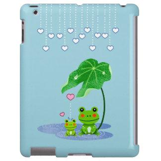 Cute Love Heart Rain & Frogs - Love Just Happens