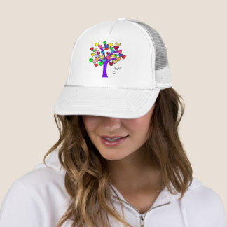 Cute Love Hearts Tree Trucker Hat