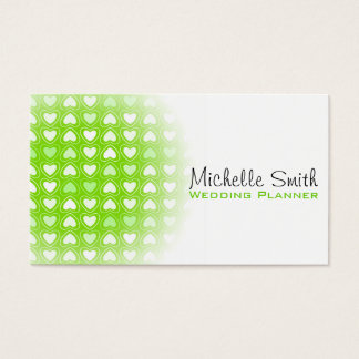 Cute love hearts wedding planner business card