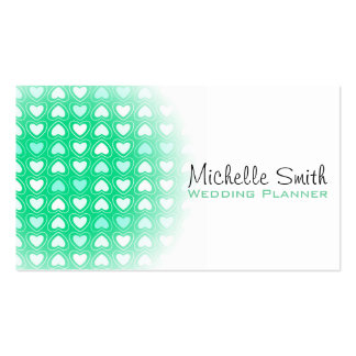 Cute love hearts wedding planner business card