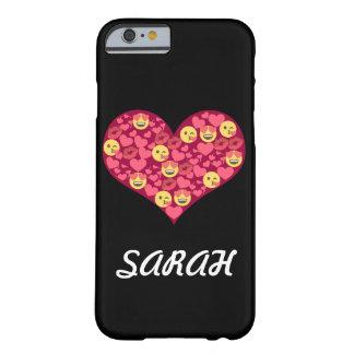 Cute Love Kiss Lips Emoji Heart Barely There iPhone 6 Case