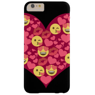 Cute Love Kiss Lips Emoji Heart Barely There iPhone 6 Plus Case