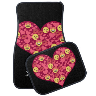 Cute Love Kiss Lips Emoji Heart Car Mat