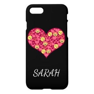 Cute Love Kiss Lips Emoji Heart iPhone 8/7 Case