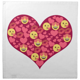Cute Love Kiss Lips Emoji Heart Napkin
