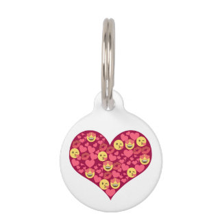 Cute Love Kiss Lips Emoji Heart Pet ID Tag