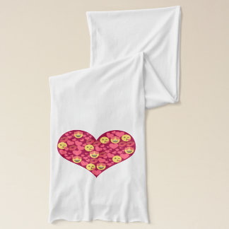 Cute Love Kiss Lips Emoji Heart Scarf