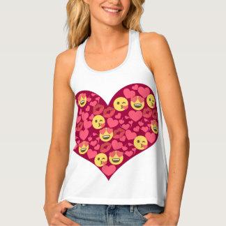 Cute Love Kiss Lips Emoji Heart Singlet