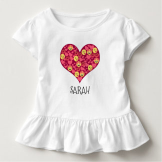 Cute Love Kiss Lips Emoji Heart Toddler T-Shirt