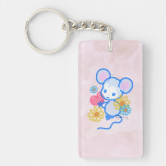 Cute Love Mouse With Heart Key Ring