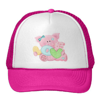 Cute Love Pig Mesh Hat