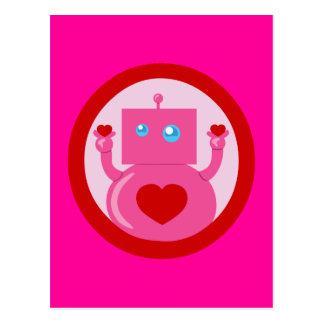 Cute Love Robot Postcard