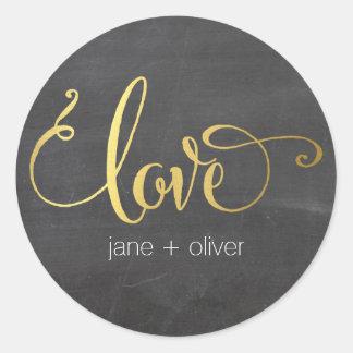 CUTE LOVE SEAL modern typography gold chalkboard