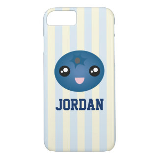 Cute Love You Berry Much Cartoon Blue Berry iPhone 8/7 Case