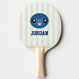 Cute Love You Berry Much Cartoon Blue Berry Ping Pong Paddle