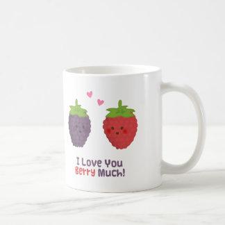 Cute Love You Berry Much Pun Humor Coffee Mug