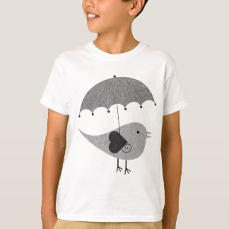 Cute Lovebird with Umbrella T-Shirt
