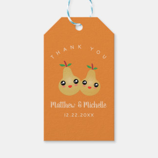 Cute Lovely Pair Whimsical Wedding Favor Thank You Gift Tags